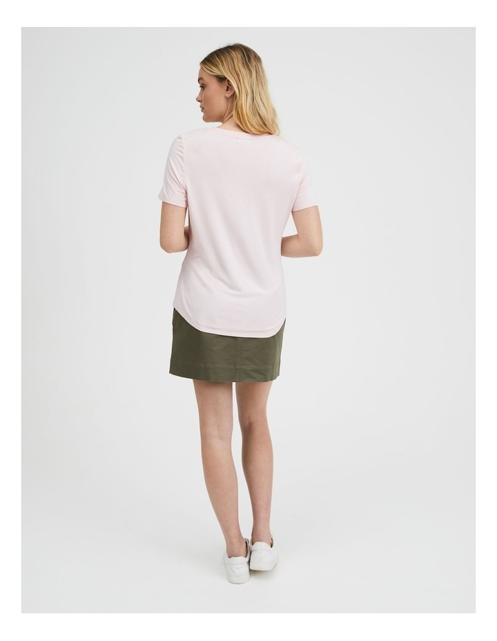 V-Neck Bamboo Tee in Rose image 3