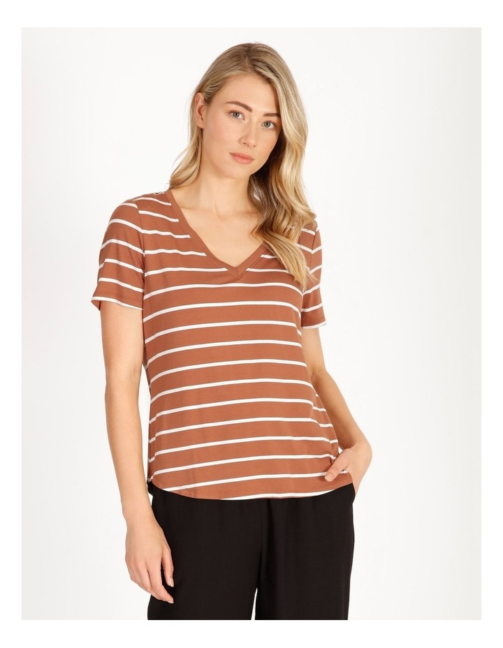 Bamboo Ss Tee Spice/White Stripe image 1