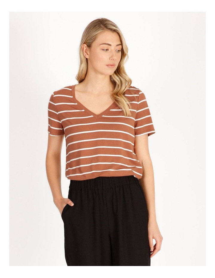 Bamboo Ss Tee Spice/White Stripe image 2