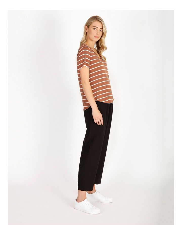 Bamboo Ss Tee Spice/White Stripe image 3