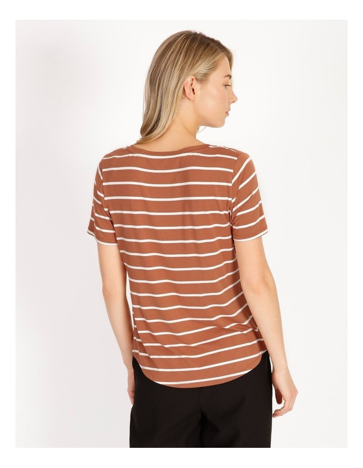 Bamboo Ss Tee Spice/White Stripe image 4