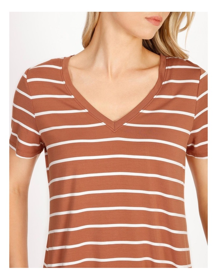 Bamboo Ss Tee Spice/White Stripe image 5