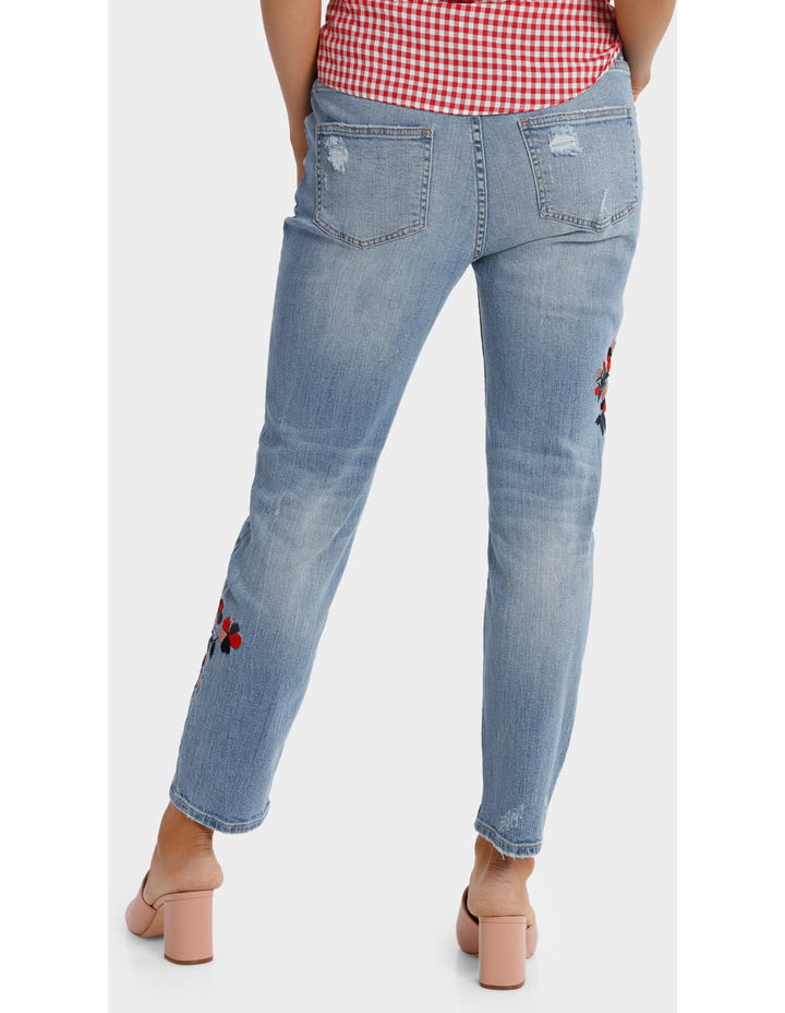 Jean Boyfriend style with embroidery image 3