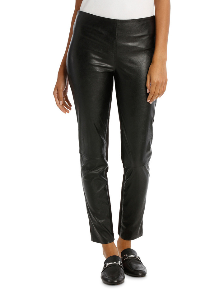 Pant Ponte And Pleather image 1