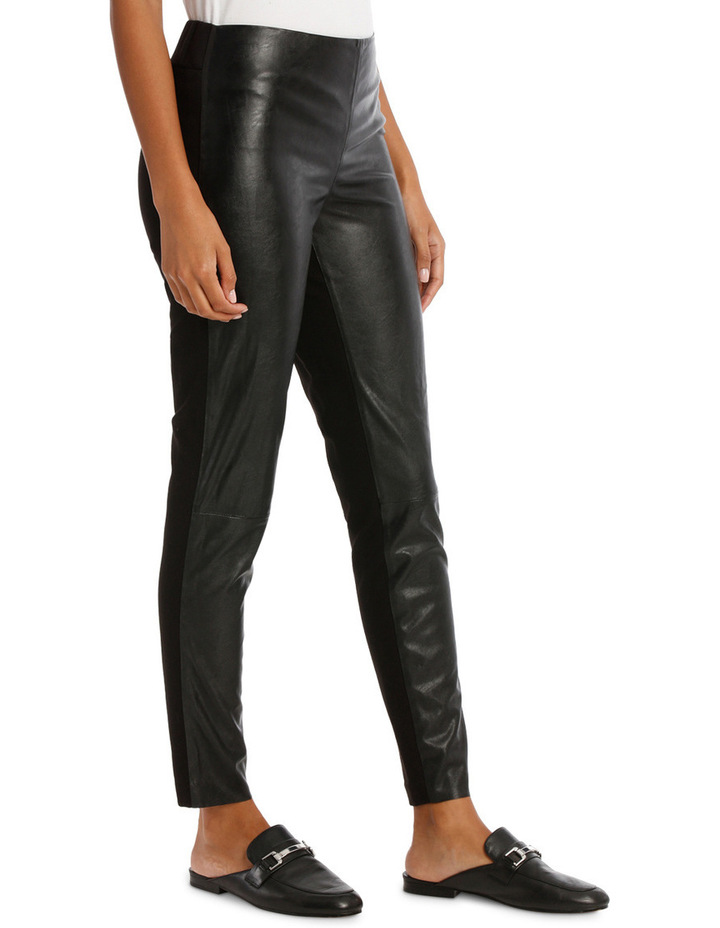 Pant Ponte And Pleather image 2