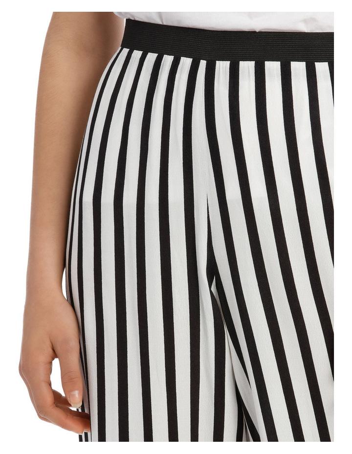 Pant Wide Stripe Elastic Waist image 4