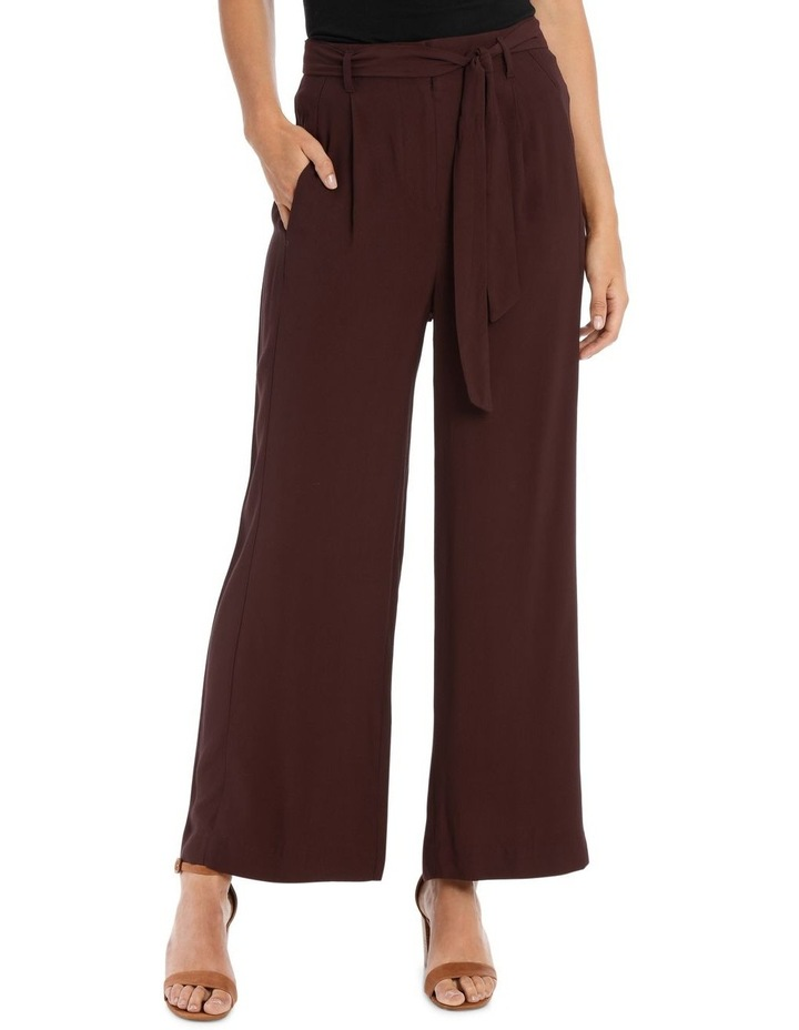 Pant Wide Leg with Belt image 1