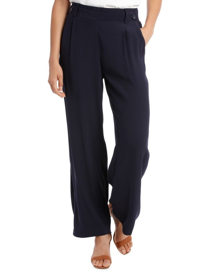 Pant wide leg with button detail image 1