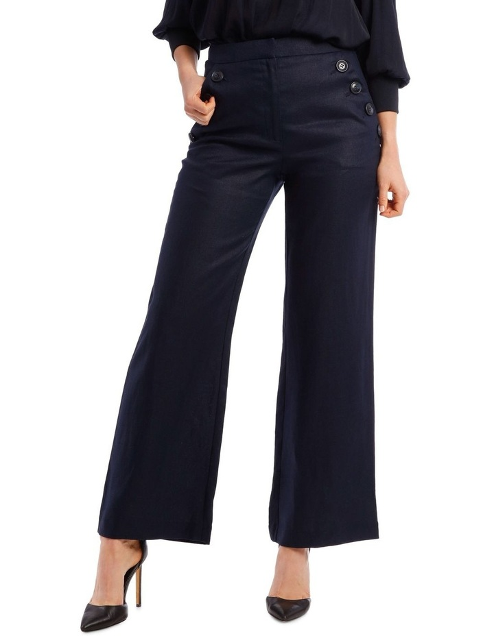 Button Pant with Wide Leg image 1