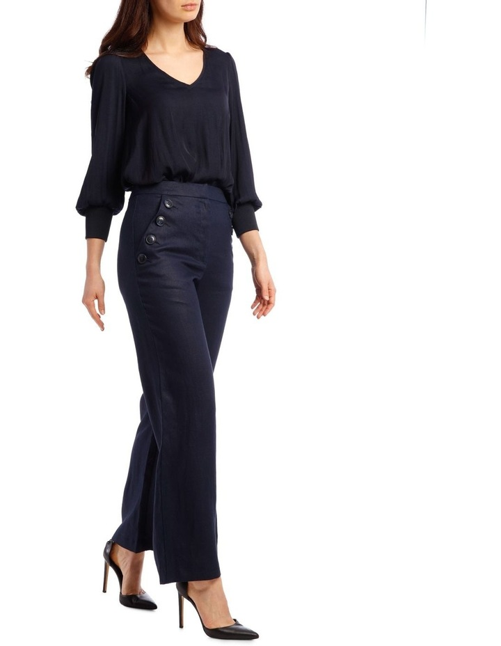 Button Pant with Wide Leg image 2