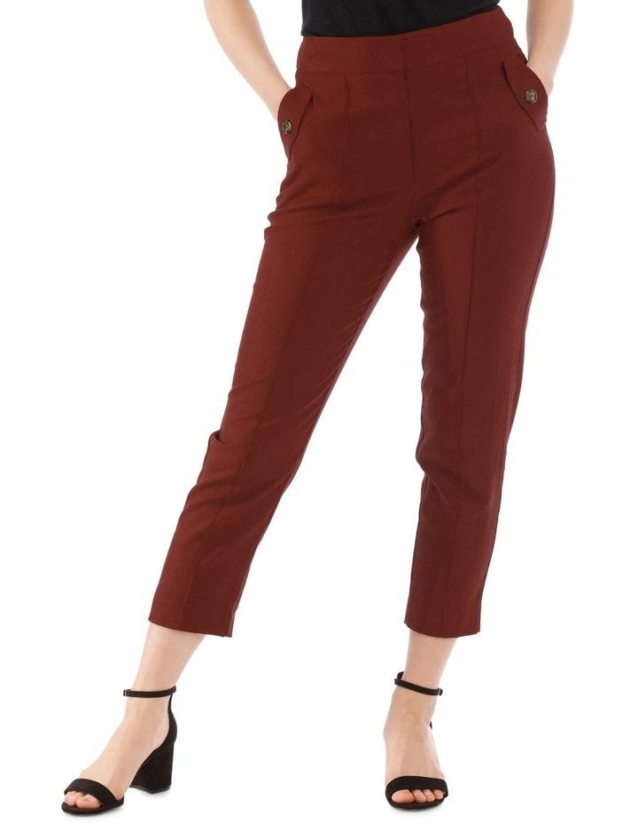 Straight Pant with Buttons image 1