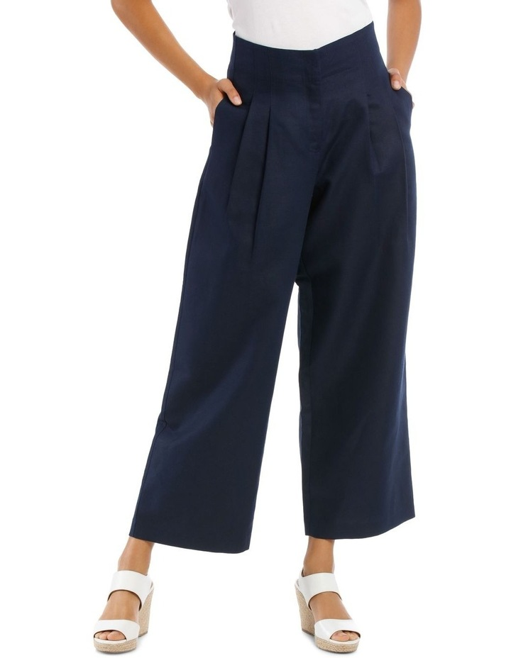 Fashion Wide Leg Pant With Pleat Front image 1