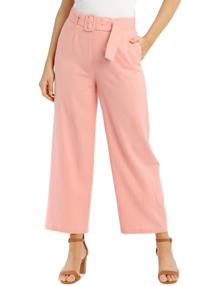 Full Length Straight-Leg Pant With Belt And Buckle image 1