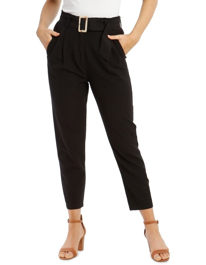 3/4 Length Pegged Pant with Shell Buckle Belt image 1