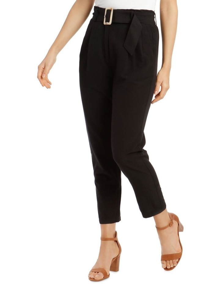 3/4 Length Pegged Pant with Shell Buckle Belt image 2