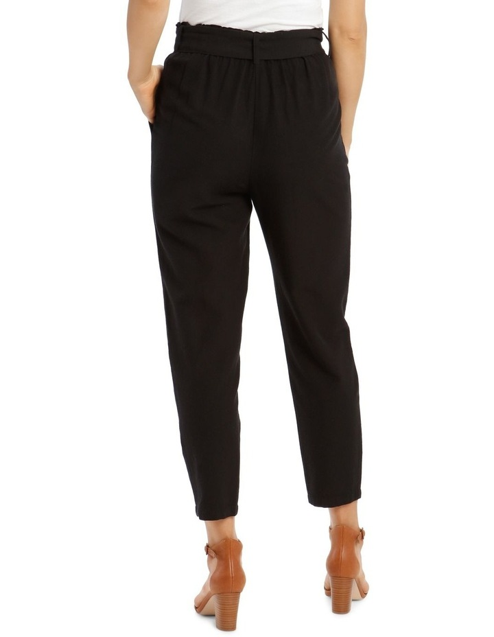 3/4 Length Pegged Pant with Shell Buckle Belt image 3