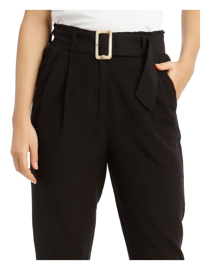 3/4 Length Pegged Pant with Shell Buckle Belt image 4