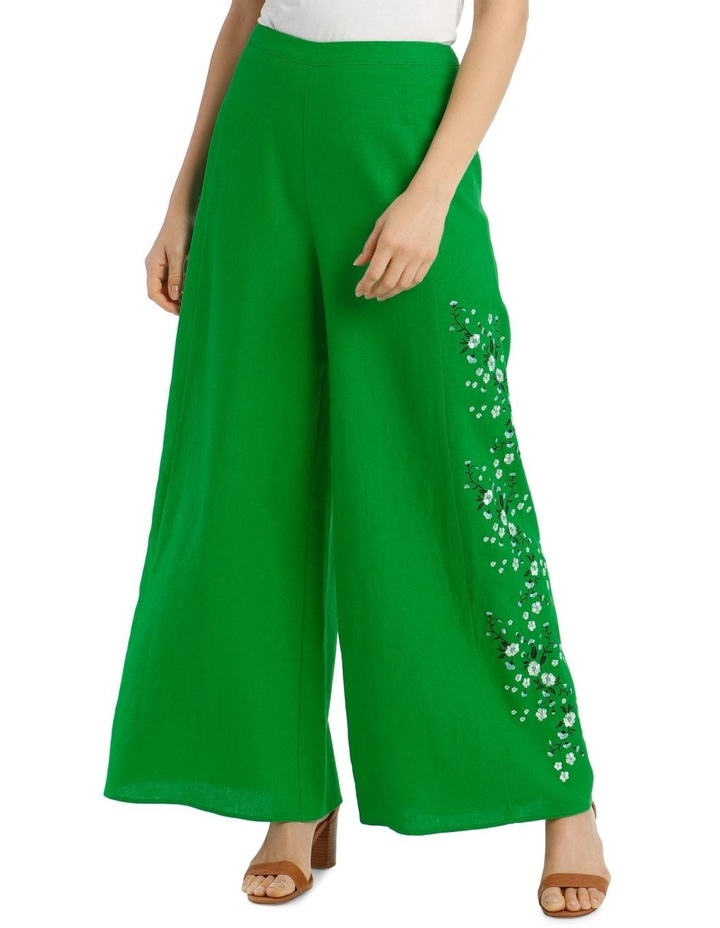 High Waist Wide Leg Pant With Embroidery image 1