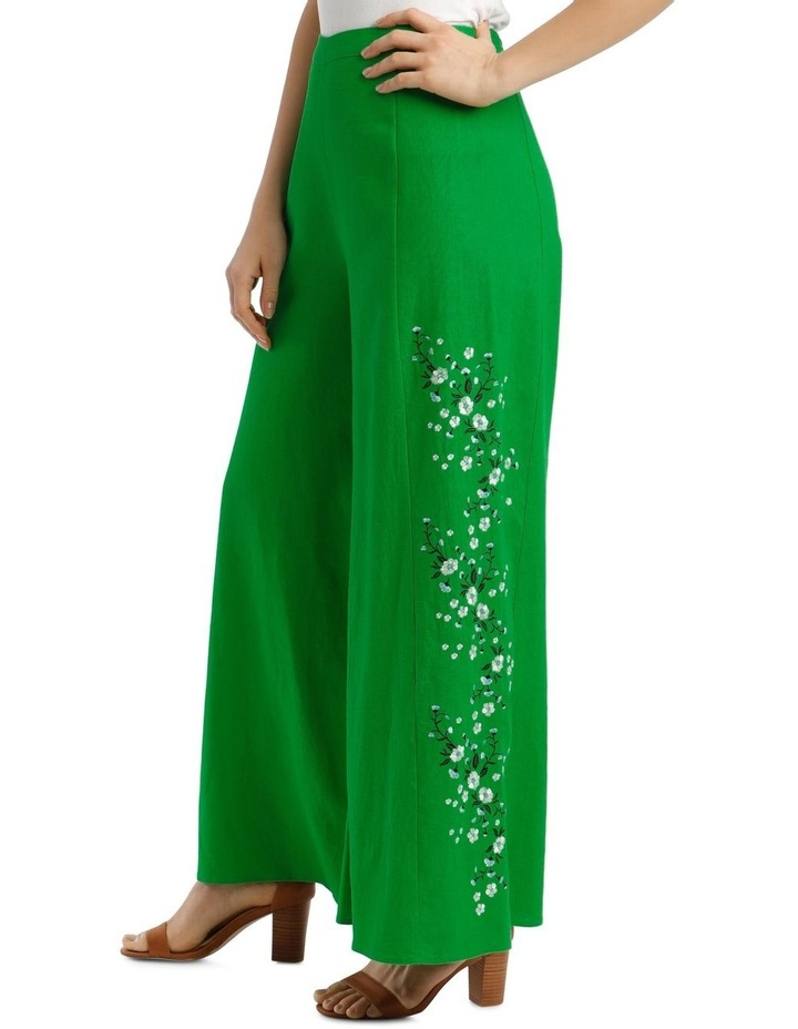 High Waist Wide Leg Pant With Embroidery image 2
