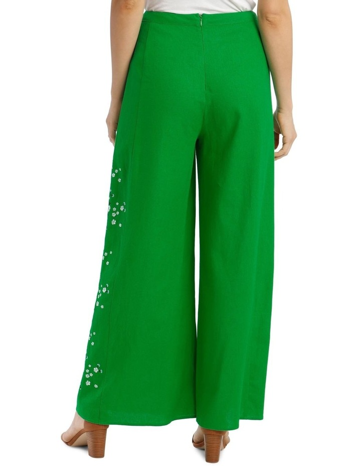 High Waist Wide Leg Pant With Embroidery image 3