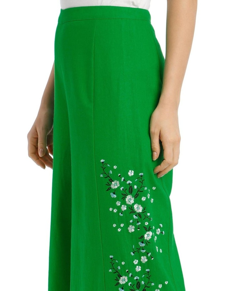 High Waist Wide Leg Pant With Embroidery image 4