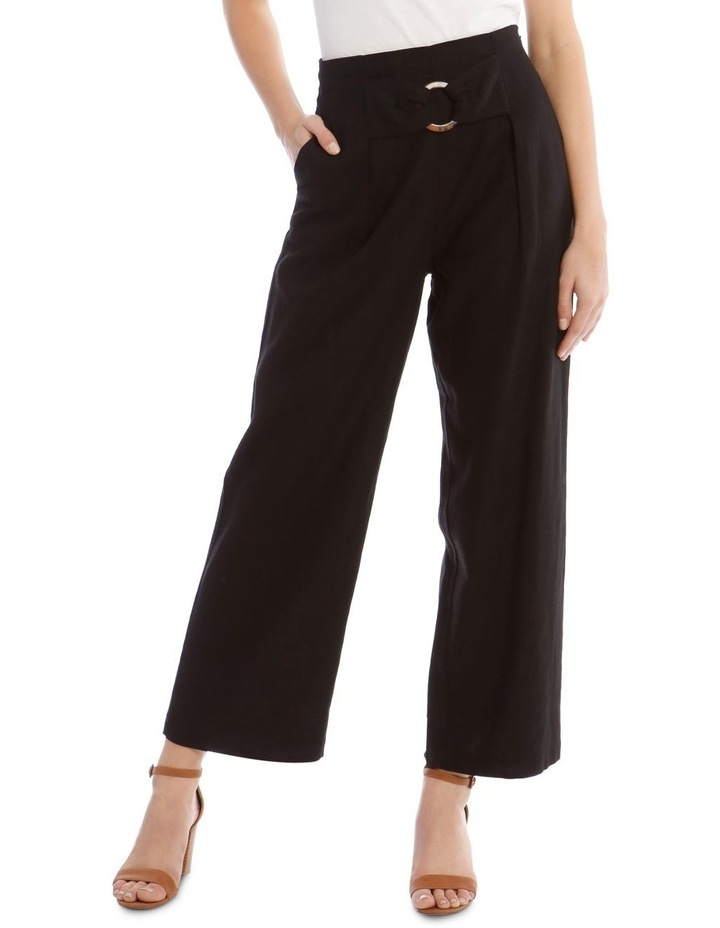 Tortoise Shell Trim Pant with Buckle image 1