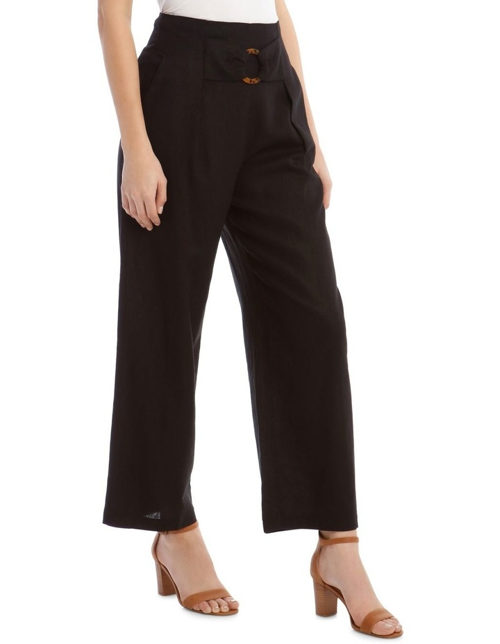 Tortoise Shell Trim Pant with Buckle image 2