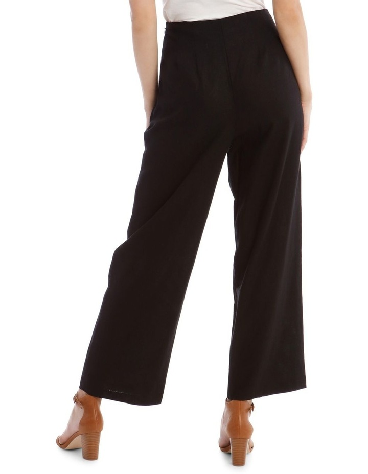 Tortoise Shell Trim Pant with Buckle image 3
