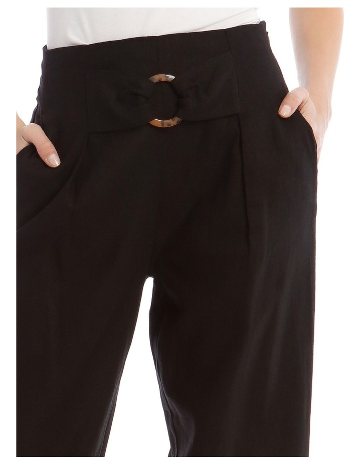 Tortoise Shell Trim Pant with Buckle image 4