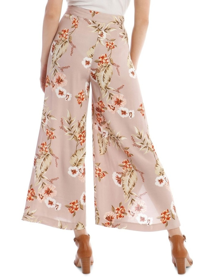 Printed Wide Pant with Splits image 3