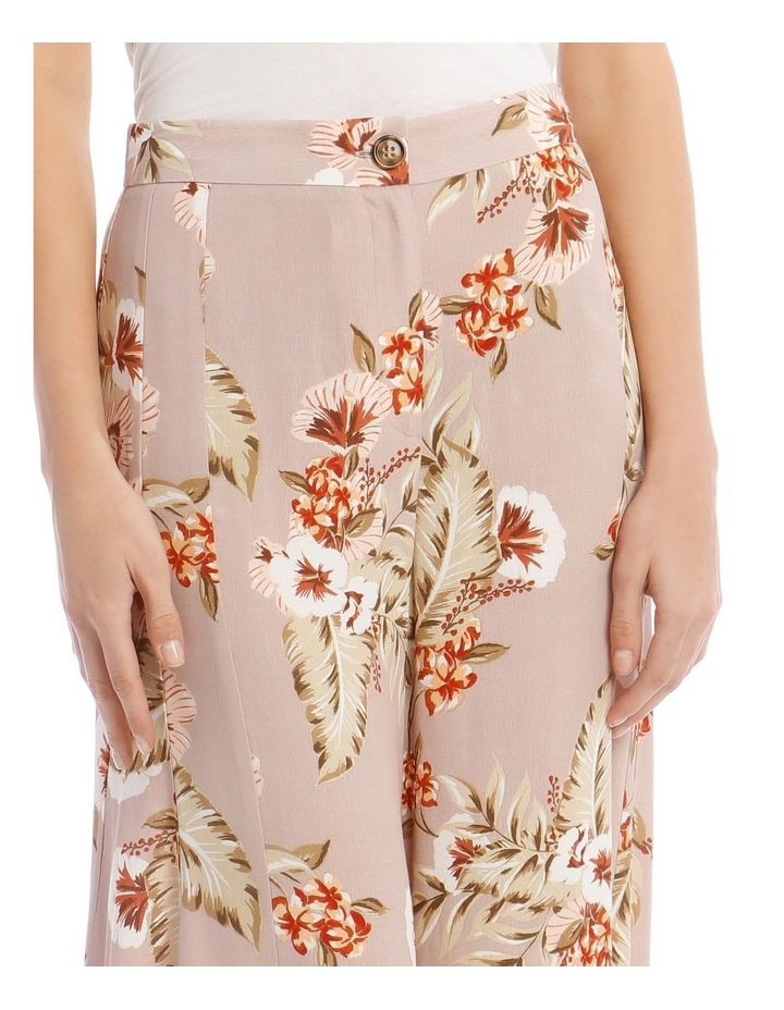 Printed Wide Pant with Splits image 4