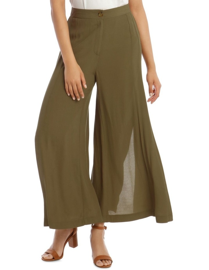 Printed Wide Pant with Splits image 1