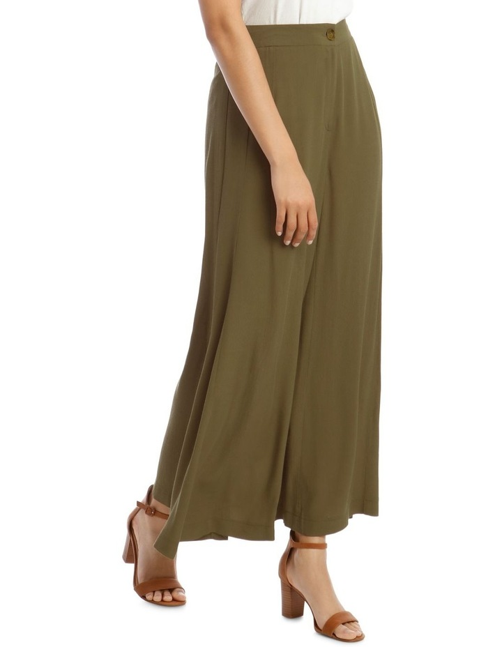 Printed Wide Pant with Splits image 2