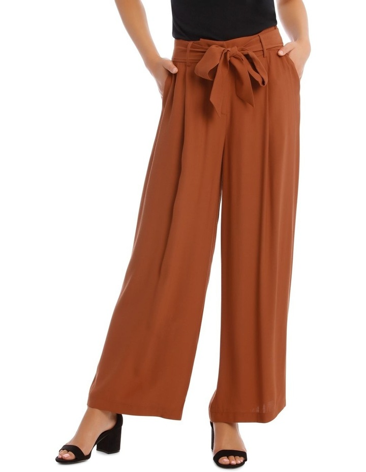 Wide Leg Pant With Belt image 1