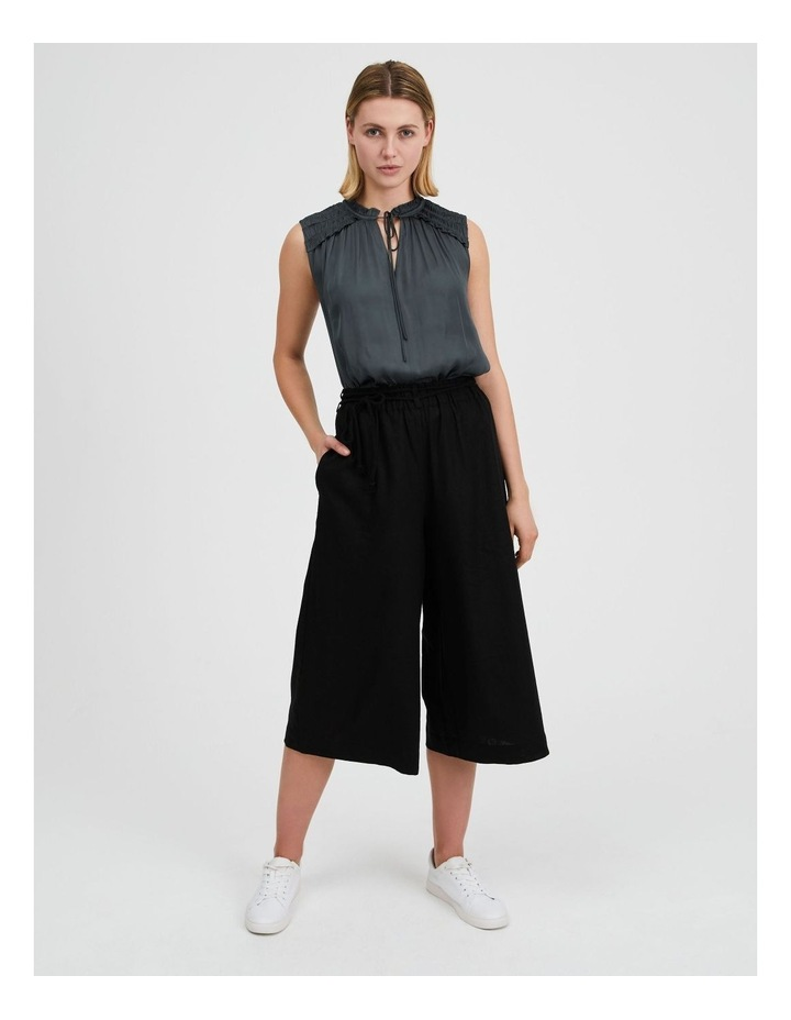 Linen Culotte With Rope Belt image 1