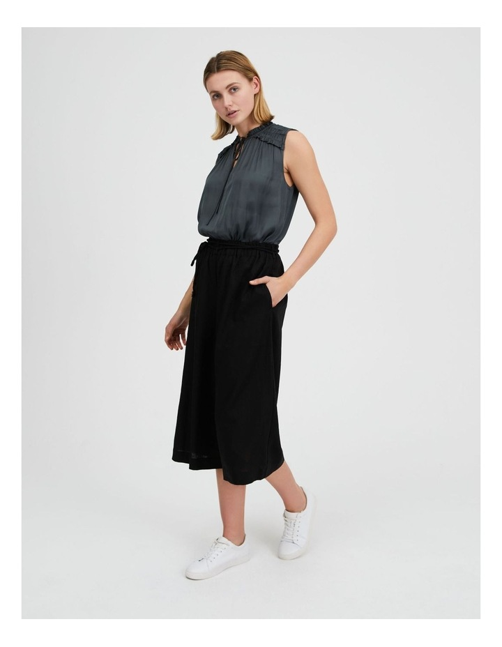 Linen Culotte With Rope Belt image 2