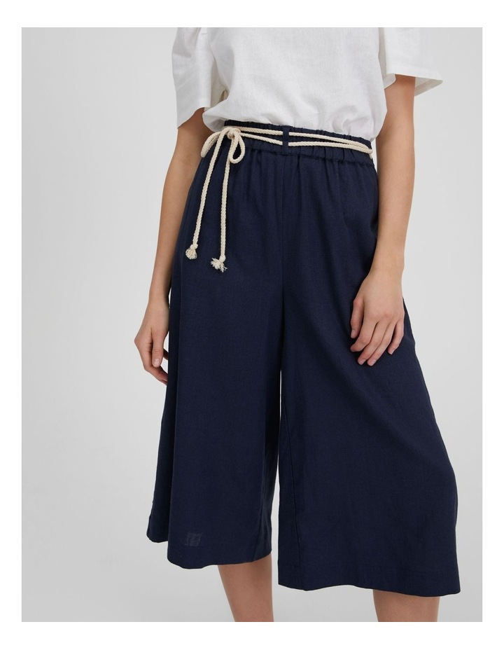 Linen Culotte With Rope Belt image 3