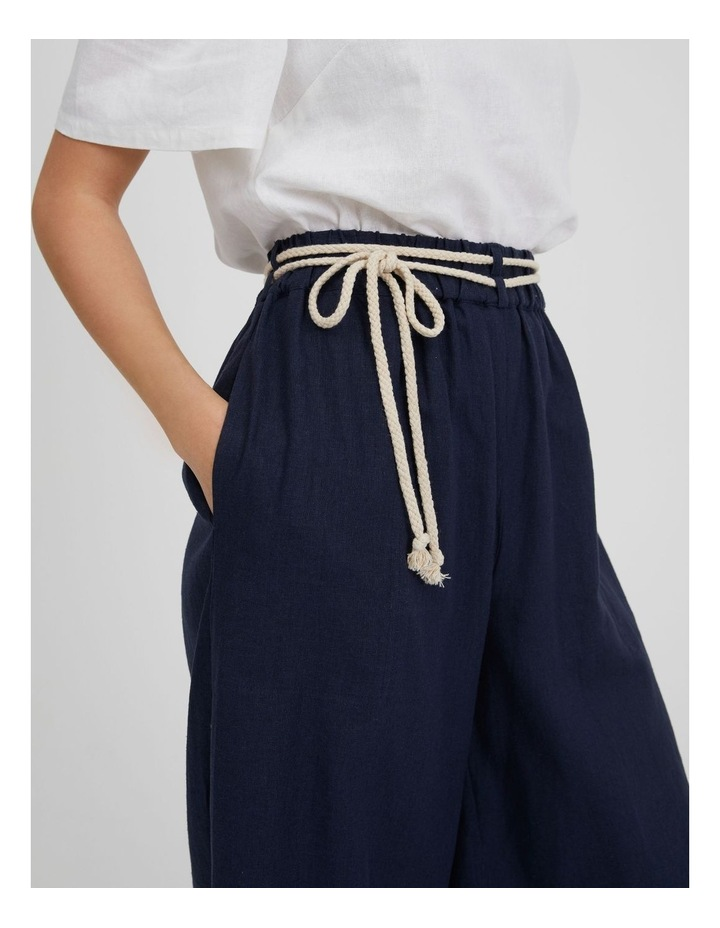 Linen Culotte With Rope Belt image 4
