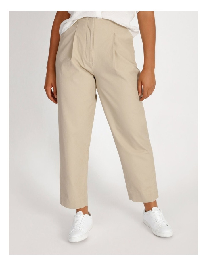 Pleat Front Tapered Pant image 1