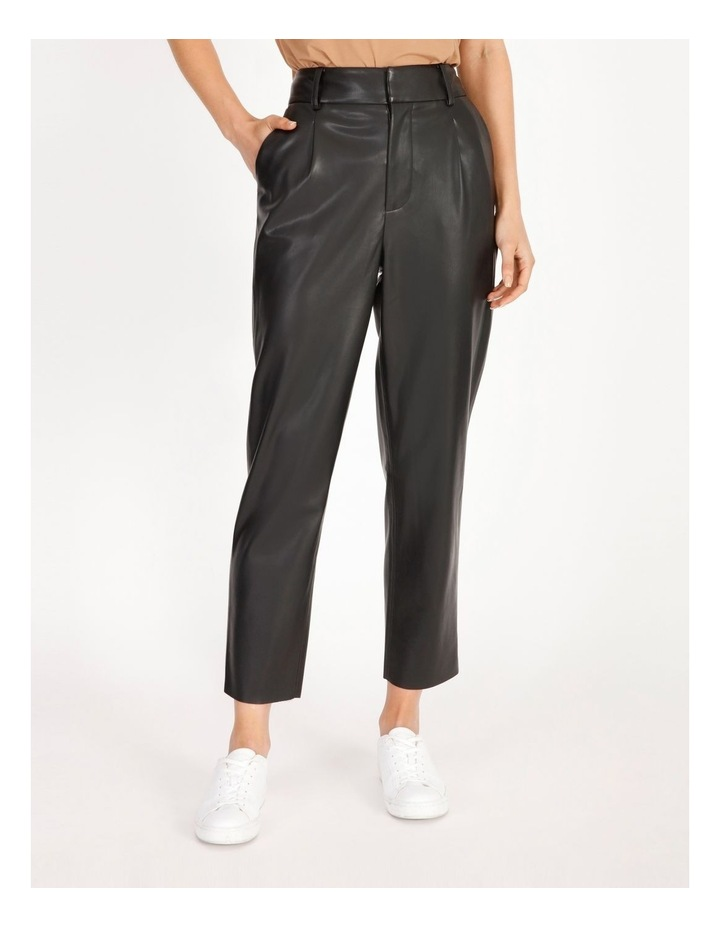 Vegan Leather Tapered Pant image 1
