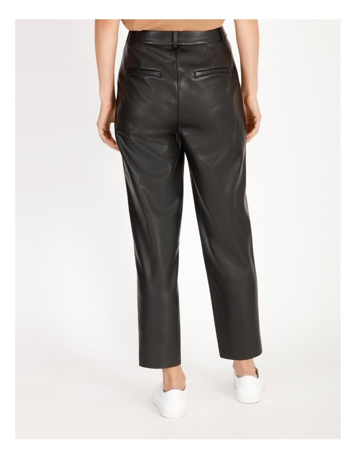 Vegan Leather Tapered Pant image 3