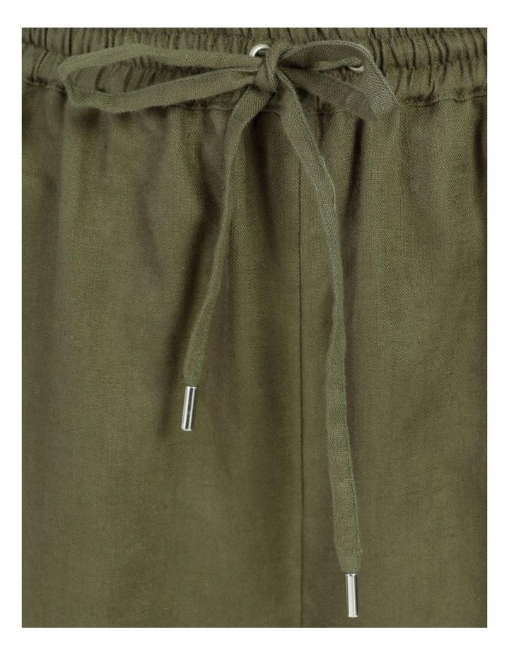 Organic Khaki Linen Straight Leg Pants image 7