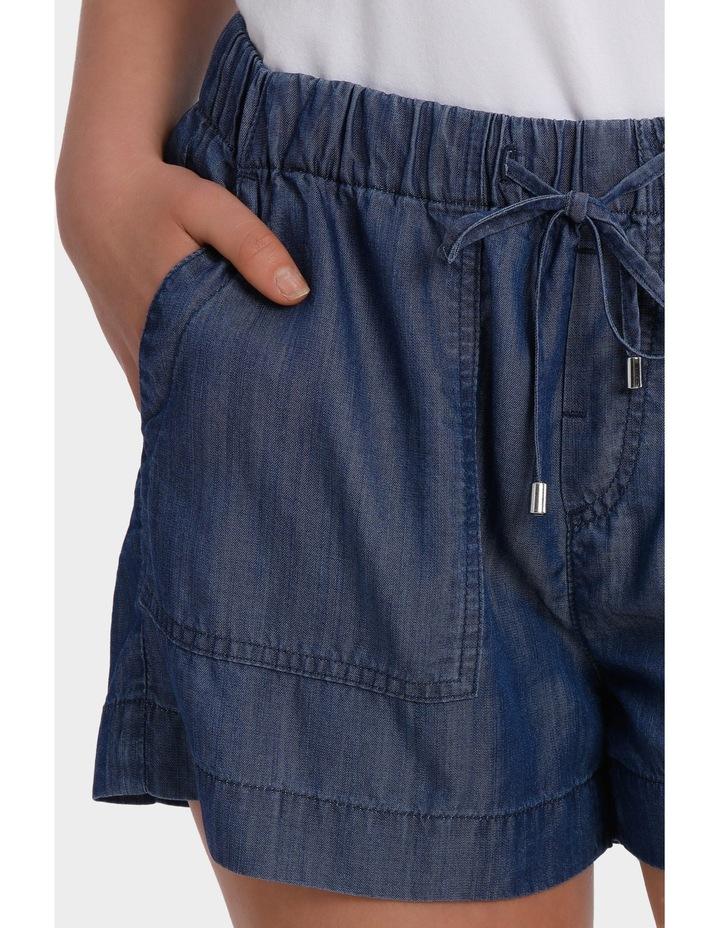 Short Tencel with tie waist image 4