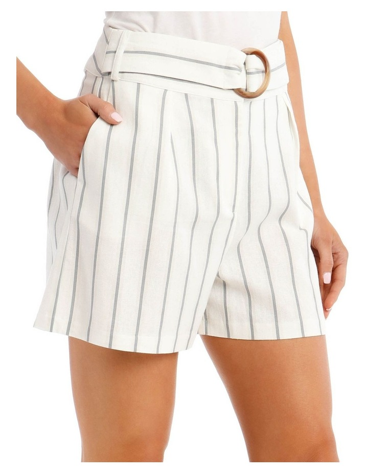 Striped Short with Tortoise Shell Buckle image 4