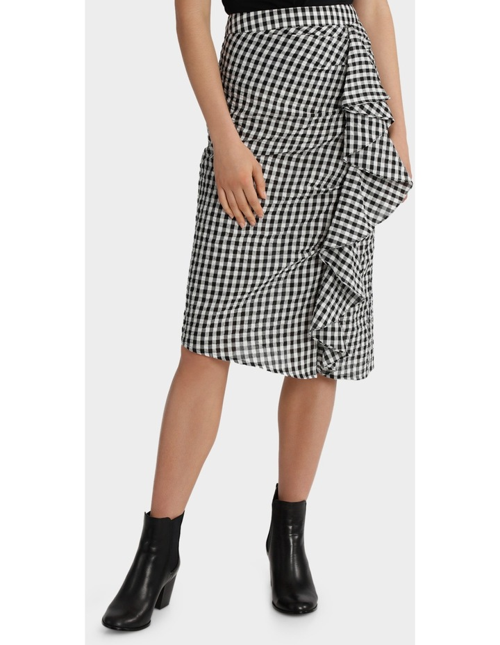 Gingham Skirt with Ruffle Detail image 1