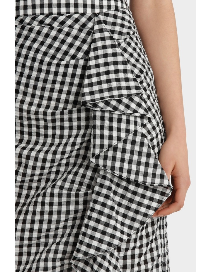 Gingham Skirt with Ruffle Detail image 4