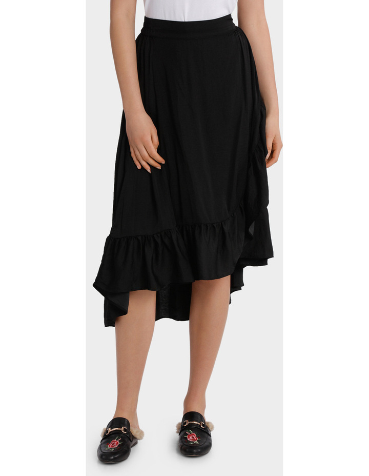 Skirt ruffle long midi image 1