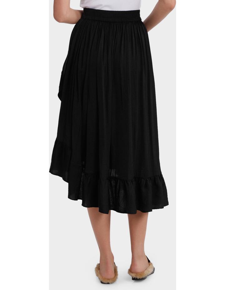 Skirt ruffle long midi image 3