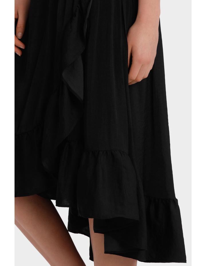 Skirt ruffle long midi image 4