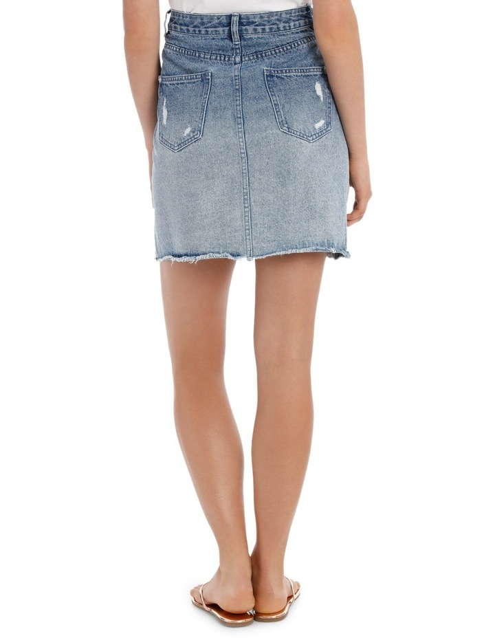 Denim Skirt with Pearls image 3